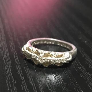 クロムハーツ(Chrome Hearts)のクロムハーツベイビークラッシックフローラルパヴェダイヤ(リング(指輪))