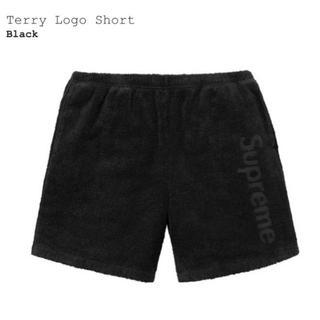 シュプリーム(Supreme)の送料込 S Supreme Terry logo Short Black 黒(ショートパンツ)
