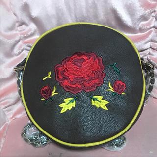 アクシーズファム(axes femme)のアクシーズファム可愛いまん丸薔薇刺繍バッグ(ショルダーバッグ)