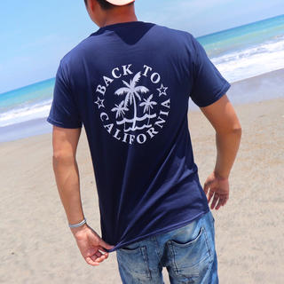 ステューシー(STUSSY)の2018 LUSSOSURF新作☆パームツリーTシャツ M ネイビー WTW(Tシャツ/カットソー(半袖/袖なし))