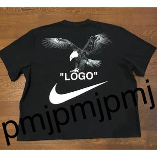 ナイキ(NIKE)のサイズL NIKE OFF WHITE Tシャツ 黒 LOGO(Tシャツ/カットソー(半袖/袖なし))