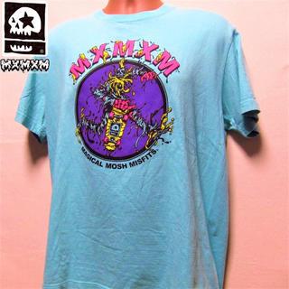 マジカルモッシュミスフィッツ(MAGICAL MOSH MISFITS)のマモミ◆ゾンビTシャツ◆ブルー  (Tシャツ/カットソー(半袖/袖なし))
