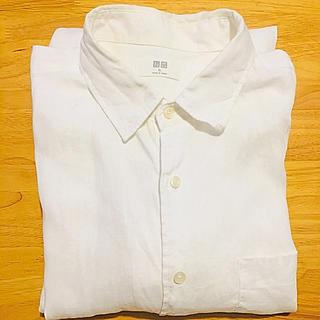 ユニクロ(UNIQLO)のユニクロ プレミアム リネン シャツ 長袖 XL(シャツ)