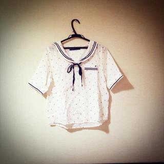 ジエンポリアム(THE EMPORIUM)の白のセーラートップス(Tシャツ(半袖/袖なし))