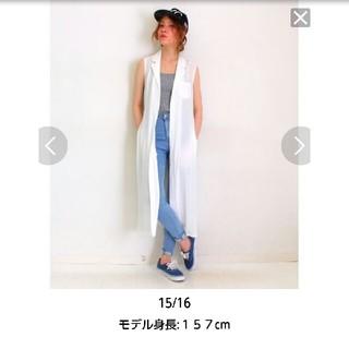 アナップ(ANAP)の☆新品タグ付き☆ レーヨンノースリーブ2wayロングマキシシャツワンピース 白(ロングワンピース/マキシワンピース)