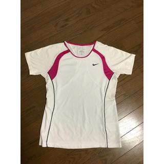 ナイキ(NIKE)のNIKE Tシャツ ランニング用 未使用 ピンク ホワイト 速乾性 Mサイズ(ウェア)