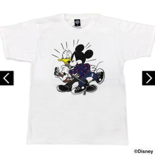 ディズニー(Disney)の【新品未開封】B'z × ディズニー TシャツA(ホワイト) Sサイズ(ミュージシャン)