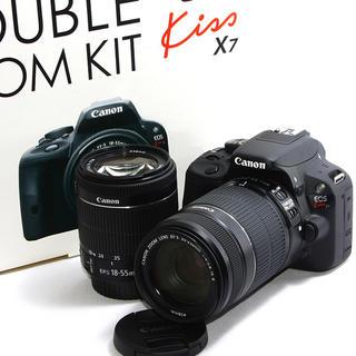キヤノン(Canon)の24h以内即日発送❤️Canon  Kiss X7 ダブルズームキット♪(デジタル一眼)