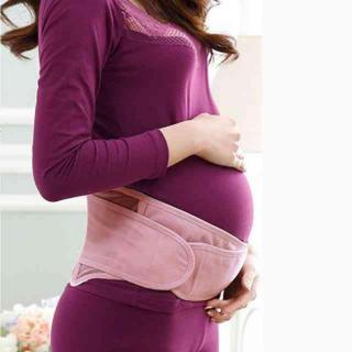 妊婦帯 ダブルベルト マタニティ サポーター 腹帯 産後 骨盤ベルト ピンク(エクササイズ用品)
