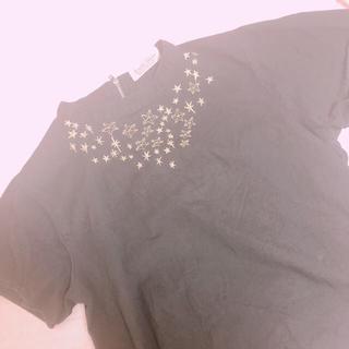 ダブルネーム(DOUBLE NAME)の刺繍 詰襟 トップス(シャツ/ブラウス(半袖/袖なし))