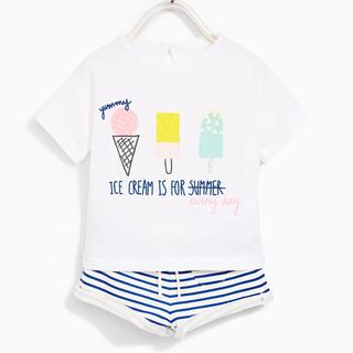 ザラ(ZARA)のザラベビー  新品 Tシャツ ズボン セット(Tシャツ)