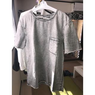 ザラ(ZARA)のZARA MAN デニムTシャツ(Tシャツ/カットソー(半袖/袖なし))