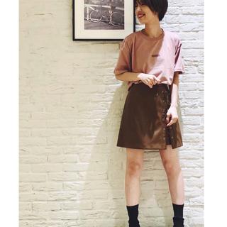 スナイデル(snidel)のSNIDEL♡♡フェイクレザーレースアップスカート(ミニスカート)
