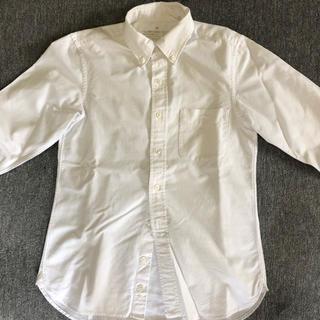 無印良品 シャツ 長袖 MUJI 白 オックスフォード