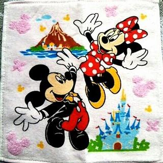 ディズニー(Disney)の[新品]🏰ディズニー ミッキー ミニー ハンドタオル(タオル)