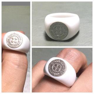 グランドキャニオン(GRAND CANYON)のGRAND CANYON GDCボタンリング シルバーxアクリルリング新品19号(リング(指輪))