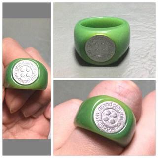 グランドキャニオン(GRAND CANYON)のGRAND CANYON GDCボタンリング シルバーxアクリル新品未使用レア(リング(指輪))