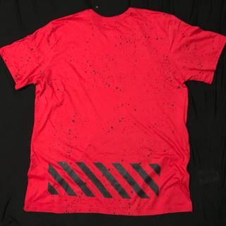 ナイキ(NIKE)の海外限定 NIKE HAZARDOUS Tシャツ XL off-white好きに(Tシャツ/カットソー(半袖/袖なし))