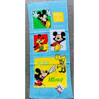 ディズニー(Disney)の【新品•未使用】ディズニー ミッキー&プルート フェイスタオル(タオル)