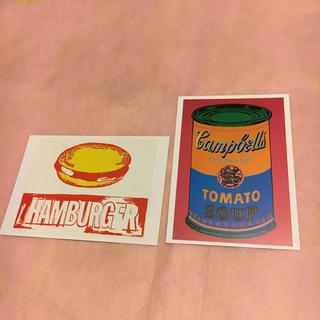 アンディウォーホル(Andy Warhol)のアンディウォーホル ポストカード2枚(絵画/タペストリー)