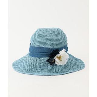 トッカ(TOCCA)のTiara様専用★TOCCA COSAGE FLOWER HAT ハット(麦わら帽子/ストローハット)
