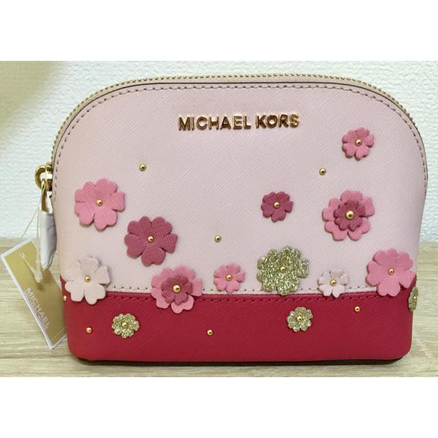 04d05ed7196a Michael Kors(マイケルコース)の新品 ポーチ MICHAEL KORS ピンク 花柄 新作 マイケル