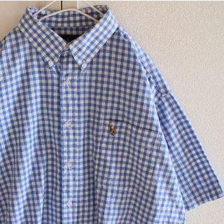ラルフローレン(Ralph Lauren)のUS ラルフローレン Bluewh チェック BD 半袖 シャツ L(シャツ)