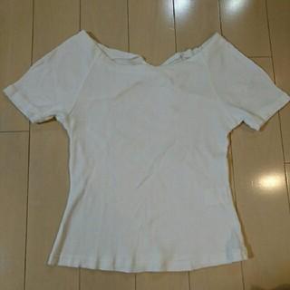 ストロベリーフィールズ(STRAWBERRY-FIELDS)の美品 STRAWBERRY-FIELDS リブTシャツ リブカットソー(Tシャツ(半袖/袖なし))