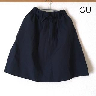 GU - ウエスト総ゴム♡膝丈スカート