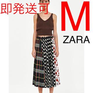ZARA - ZARA パッチワークプリント柄スカート パッチワーク スカート
