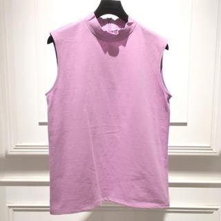 ルシェルブルー(LE CIEL BLEU)の今期☆新品未使用☆LE CIEL BLUE☆ハイネックスリーブレスTシャツ(Tシャツ(半袖/袖なし))
