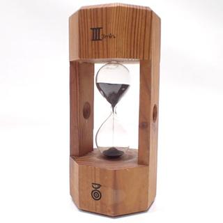 C485 木製 アンティーク 砂時計 3分 ヴィンテージ インテリア(置時計)