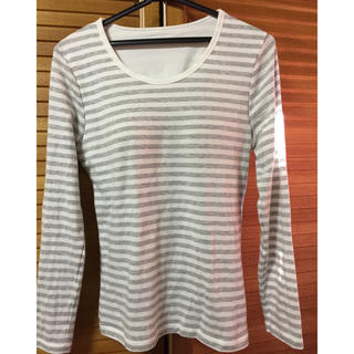 ジーユー(GU)のgu ブラ付きロンT XL(Tシャツ(長袖/七分))