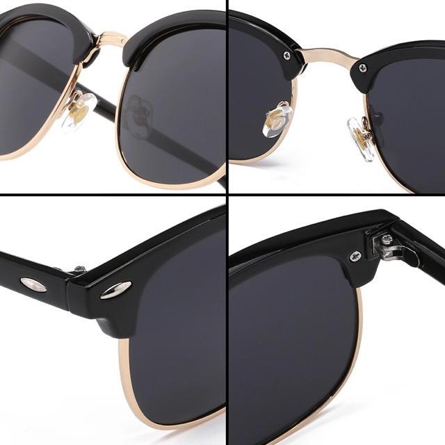 5a5f49d3b6344d サングラス サーモント ミラー スモーク 伊達メガネ 男女兼用 UV400 黒 メンズのファッション小物(サングラス