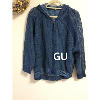 ジーユー(GU)のGU Lサイズ パーカー デニム風(パーカー)