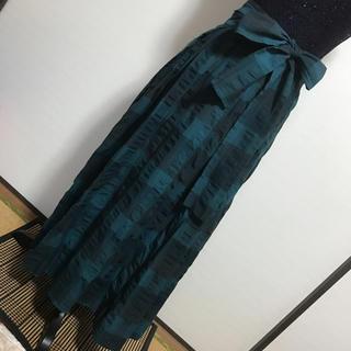 ヴィヴィアンウエストウッド(Vivienne Westwood)の美品☆ヴィヴィアン☆スカート☆ロング☆グリーン系☆チェック☆size2(ロングスカート)