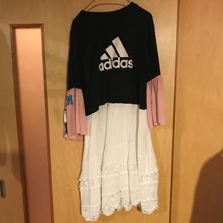 アディダス(adidas)のアディダス リメイク ワンピース(ロングワンピース/マキシワンピース)