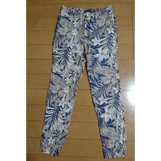 ザラ(ZARA)のZARA MAN 花柄 リネン パンツ S メンズ 38  30 ボタニカル 美(その他)