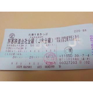 青春18きっぷ4回分返却なし(鉄道乗車券)