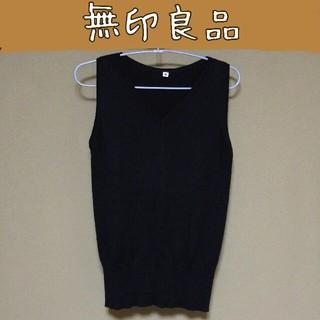 ムジルシリョウヒン(MUJI (無印良品))の☆ 無印 Mサイズ 綿100% 模様編み ノースリーブ ☆(カットソー(半袖/袖なし))
