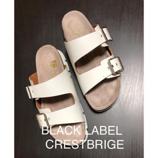 ブラックレーベルクレストブリッジ(BLACK LABEL CRESTBRIDGE)の[BLACK LABEL CRESTBRIGE]白サンダル(サンダル)
