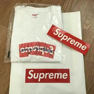 シュプリーム(Supreme)のsupreme comme des garcons box logo tee(Tシャツ/カットソー(半袖/袖なし))