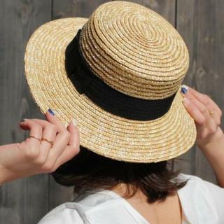 キャサリンロス(KATHARINE ROSS)のキャサリンロス カンカン帽(麦わら帽子/ストローハット)