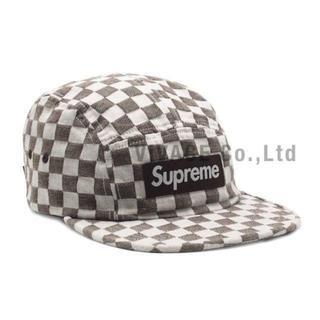シュプリーム(Supreme)のSupreme Checkerboard Camp Cap 茶色(キャップ)