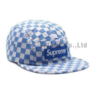 シュプリーム(Supreme)のSupreme Checkerboard Camp Cap 青(キャップ)