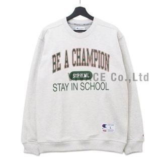 シュプリーム(Supreme)のChampion Stay In School Crewneck グレーM(スウェット)