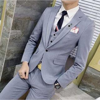 無地 スーツメンズ スーツジャケット 紳士 セットアップ 着痩せ zb312(セットアップ)