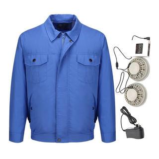 空調服 作業服 夏用 空調風神服 ファン 電池ボックス5セット サイズ選択可(その他)