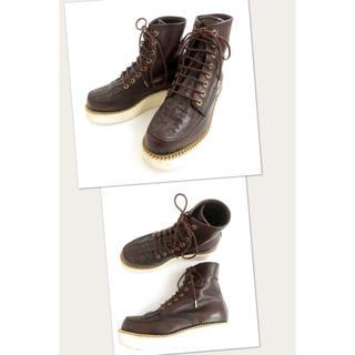 ジバンシィ(GIVENCHY)のGIVENCHY ジバンシィ チェーン付き 厚底 ブーツ 39 レザー ブラウン(ブーツ)
