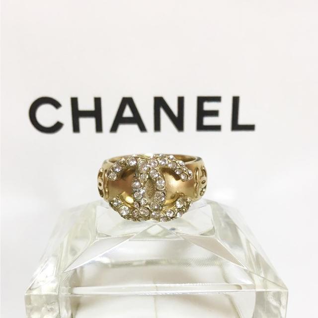 3d27d7bd9c98 CHANEL(シャネル)の正規品 シャネル 指輪 ゴールド ココマーク ラインストーン 金 リング